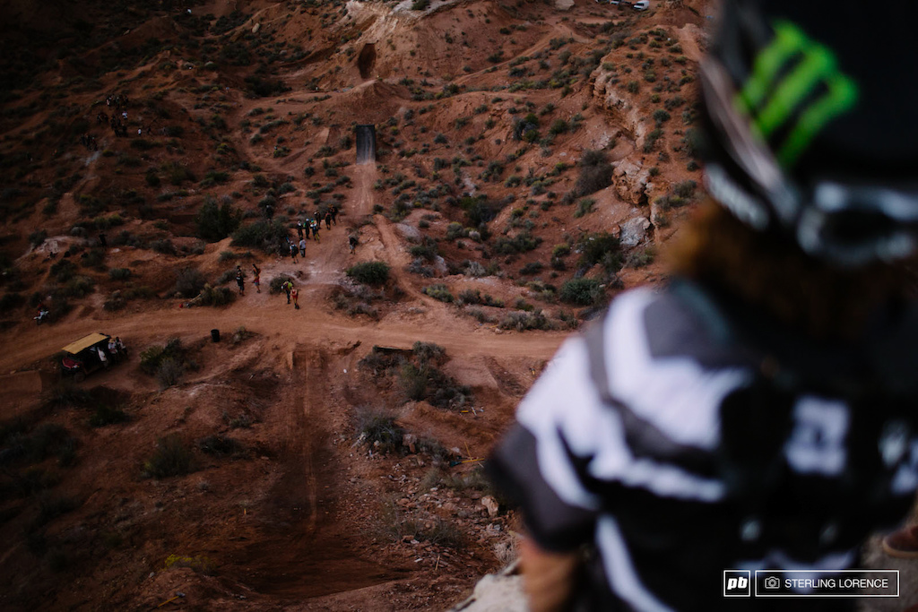 Graham Agassiz at RedBull Rampage 2014.