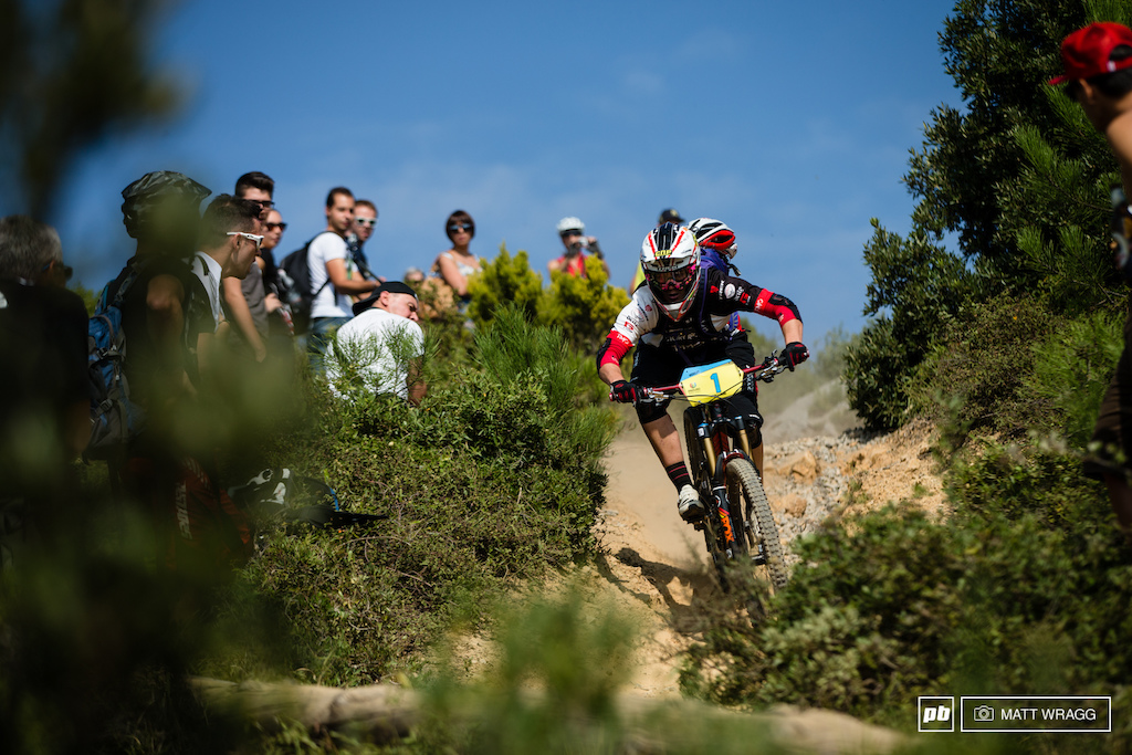 Tracy Moseley didn t seem to be herself on track today dropping behind Cecile Ravanel on the second stage but clawing her way back into second this afternoon. She s nearly a minute off Chausson but holds 15 second over Ravanel who she needs to beat to take the title.