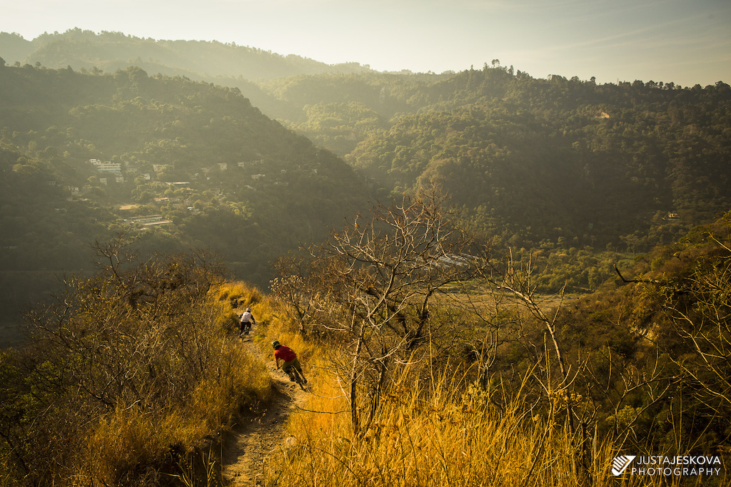 Steve Storey and Denis Courchesne exploring the trails in Panajachel, Guatemala.