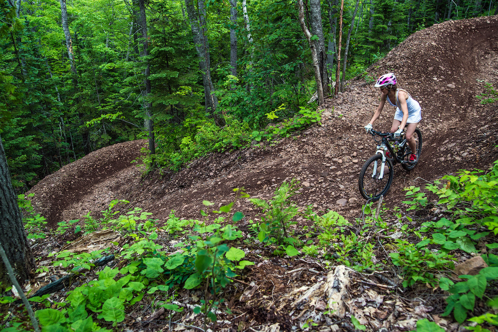 Mike and Kati's wedding day ride on Overflow in Copper Harbor, MI