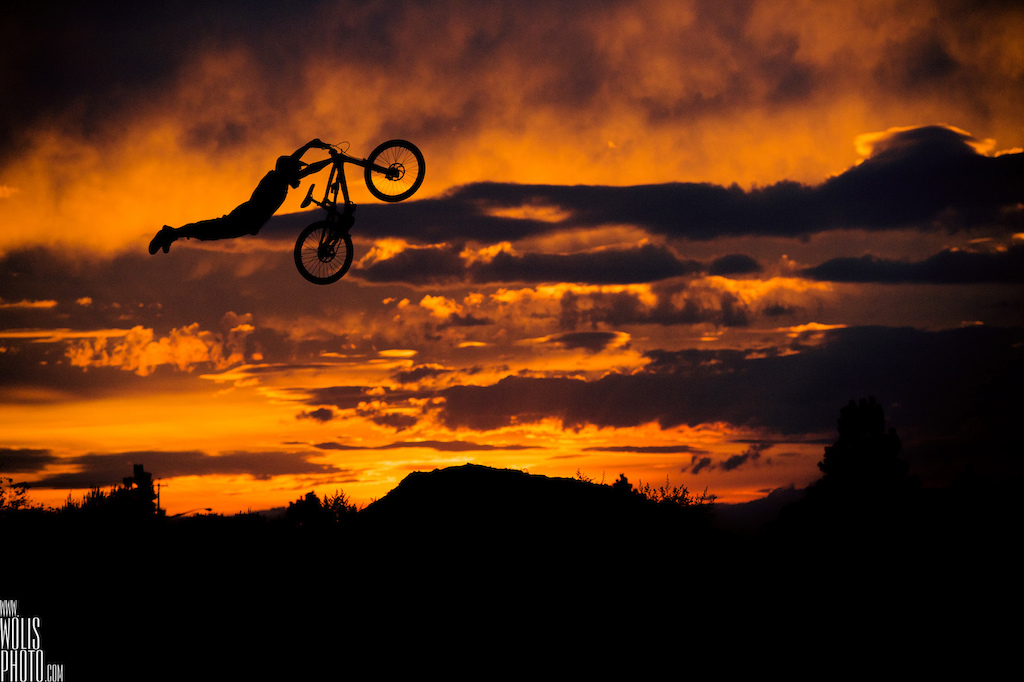 superman on dh bike