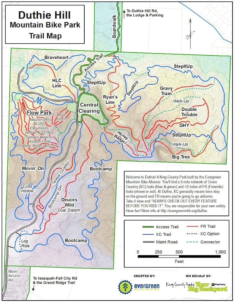 Duthie Hill Trail Map