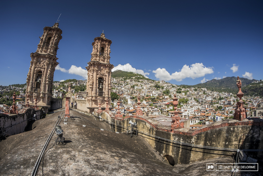 The view of Taxco from the top of the church in the main Plaza. It' not often you get to run about on the roof of a holy building.