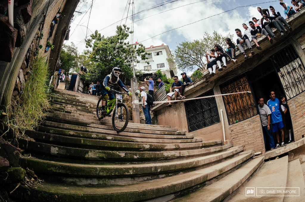 Bernard Kerr hasn t ridden his DH bike since Red Bull Rampage and the opening staircase was a rude awakening.