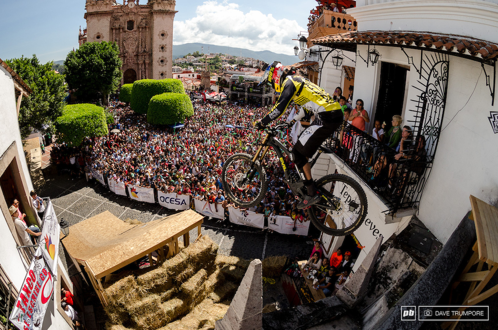Filip Polc was 2nd on the day but would take the overall title in the 2014 City Downhill World Tour.