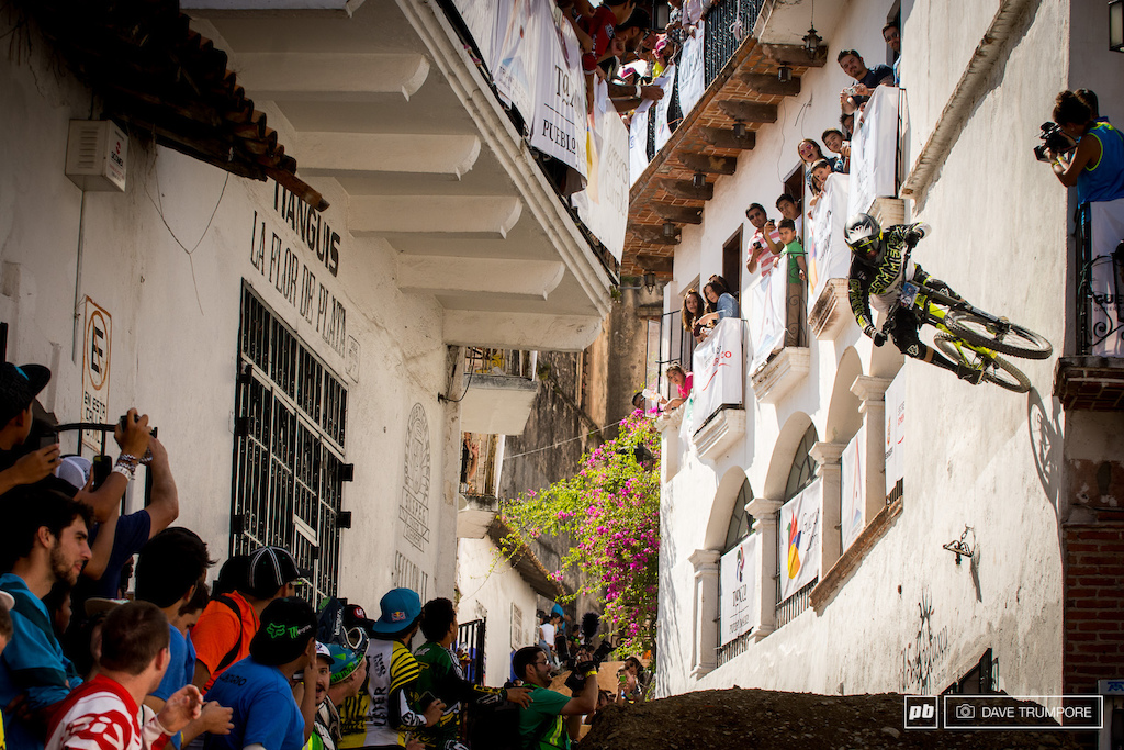Remy Metallier skipped the big jump and went for a massive wall ride instead.