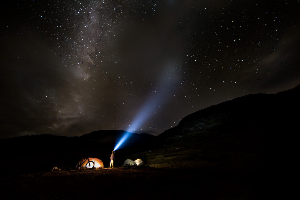 Kite Lake, elevation 12,000 feet, would serve as out base camp for the night.  Luckily the storms would pass and the Milky Way began to shine through as we prepared to tackle the first big accent of the day.  -Photo Credit Joey Schusler