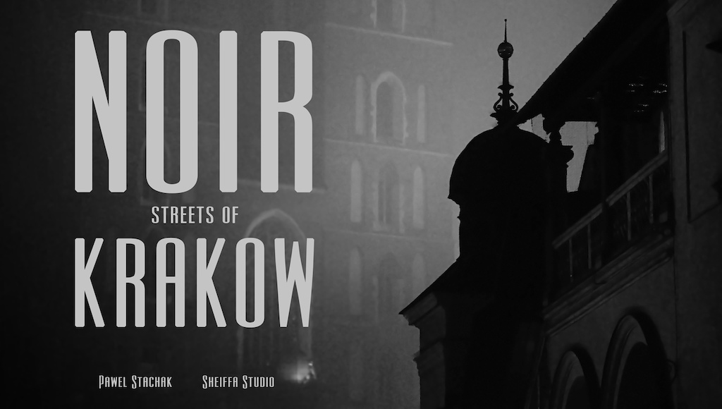 Noir streets of Krakow night session.