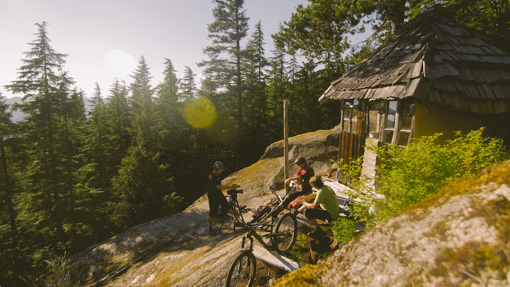 A familiar sight if one ventures off the beaten path. This cabin was not built by MTB ers but other keen two-wheeled enthusiasts.