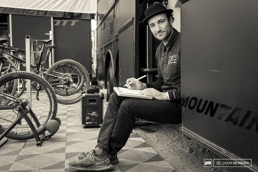 Claudio Caluori is a man of many hats Team Director for Scott Gstaad Red Bull Crashed Ice Competitor Don t know what that is Think 4x racing. On ice skates and Pump Track and Bike Park designer. Fort William 2014.