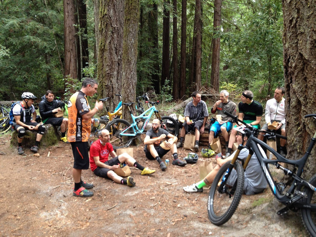 Then feed everyone lunch in the middle of the ride.