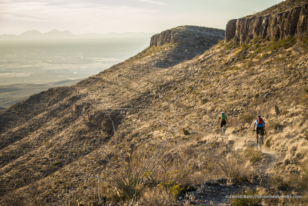 This section of trail is a rare buff trail in El Paso. Even though the Franklin Mountains State Park sits entirely in the city limits it is still some of the roughest riding I have ever experienced.