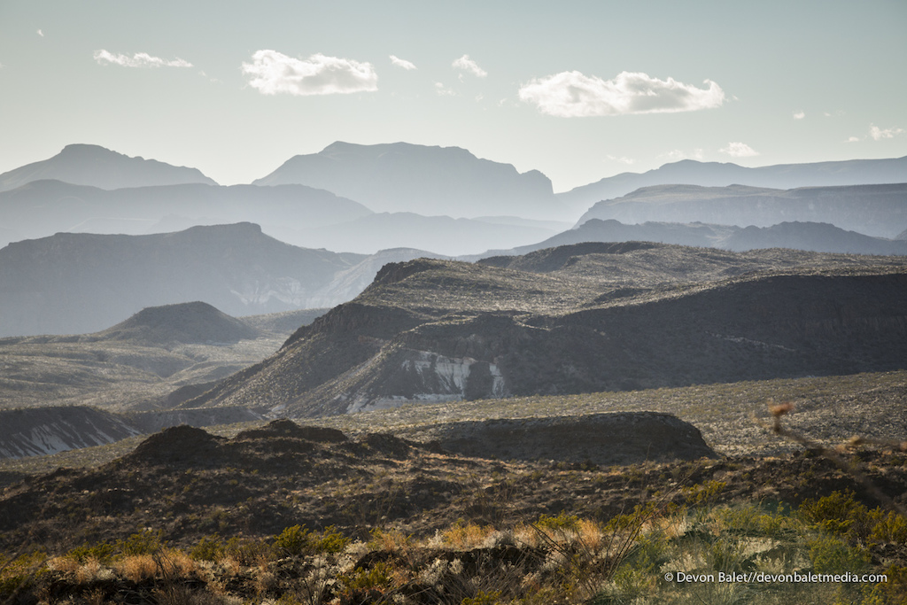 The endless ridges of Big Bend State Park just outside of Terlingua Texas.