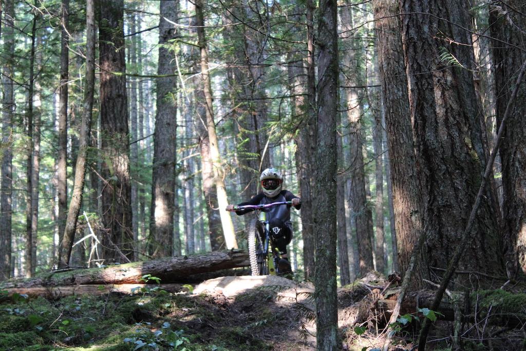 Gabe Goerzen chilling in the forest