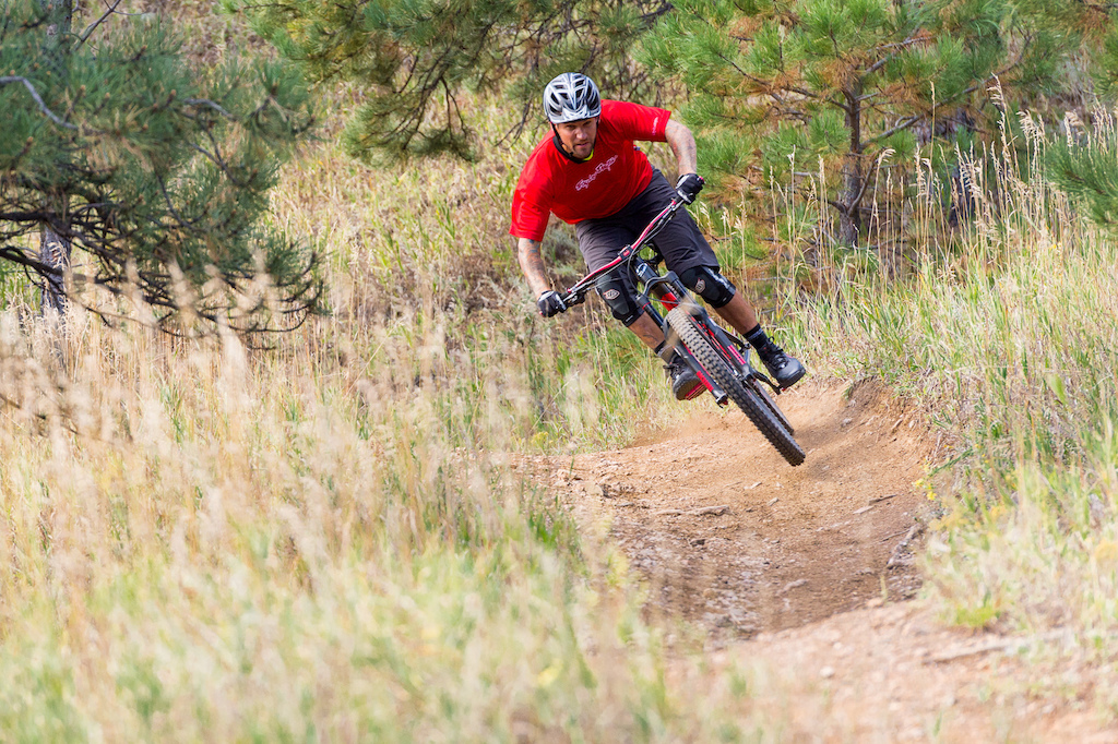 Nate Adams rides the Niner Bikes WFO 9 in Horsetooth Mountain Park near Fort Collins