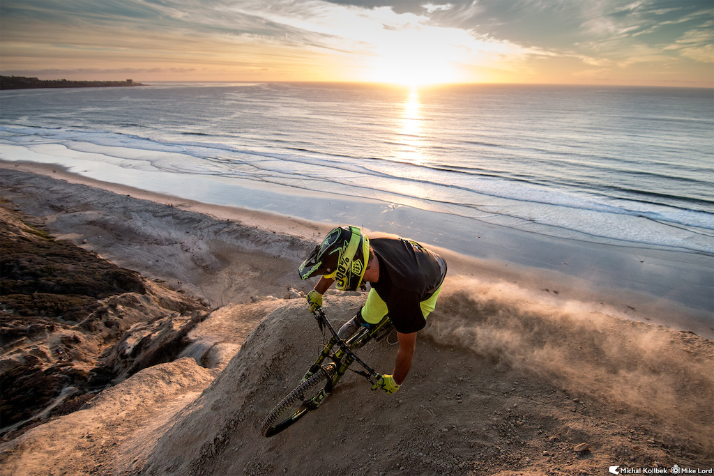 DVO Suspension Team Rider Michal Kollbek getting the last bit of light while taking in the amazing California winter sunset. It was a great day of shooting!