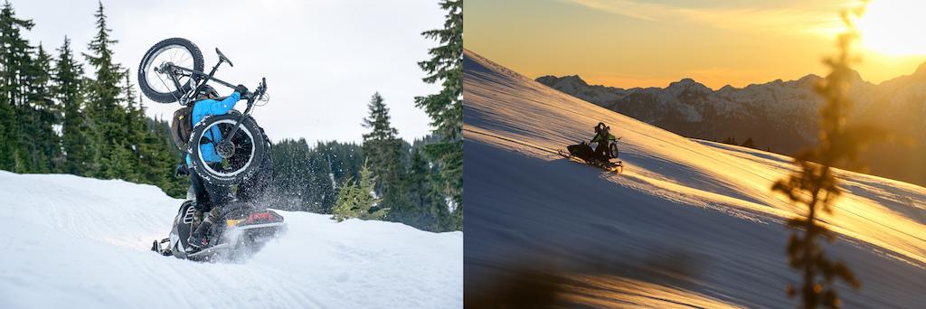 Snowmobile shuttles all day long.