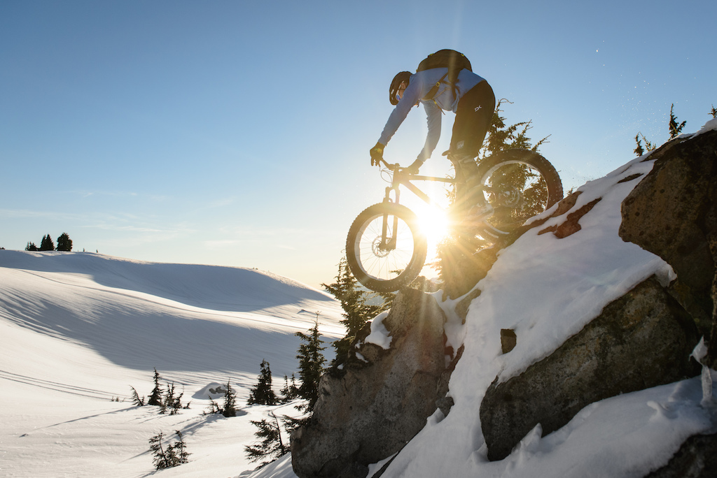 Little drops like this get scary when the snow is inconsistent. Gully rode it out like a champ though. Photo by Brian Park.