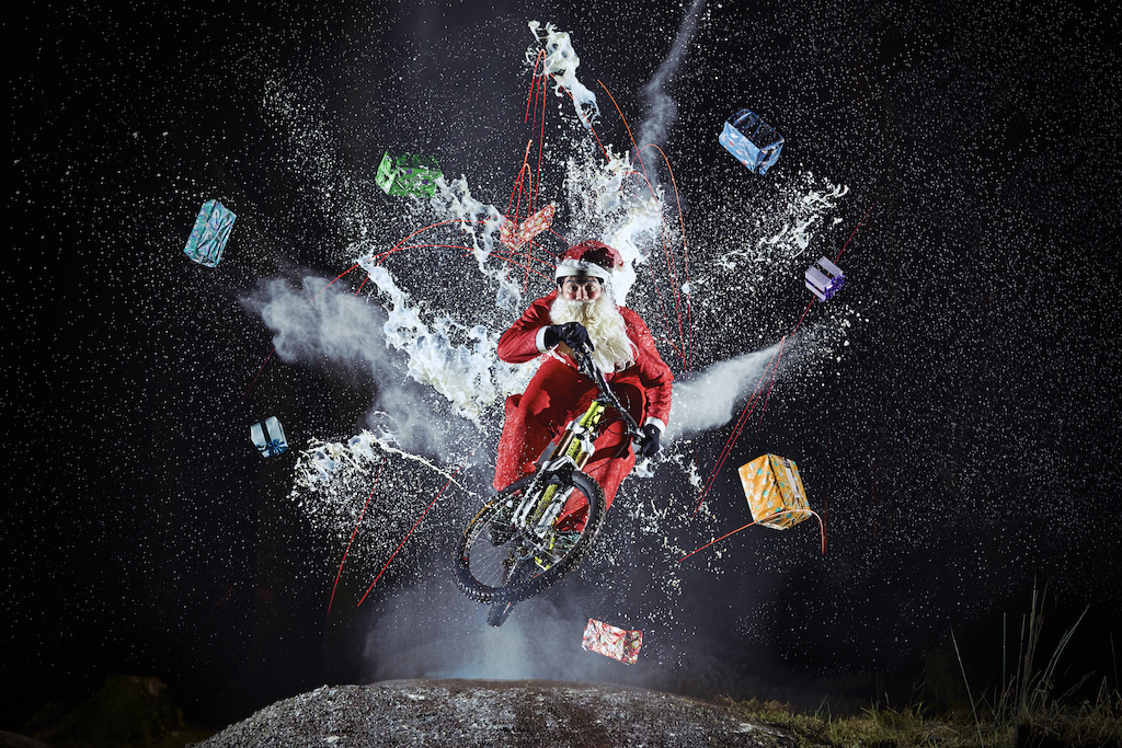 Santa takes on everything that is is thrown at him to make sure you guys get all your bike gifts this Xmas Merry Christmas 2014 to you all and wishing you all the best...Cheers Laurence CE - www.laurence-ce.com