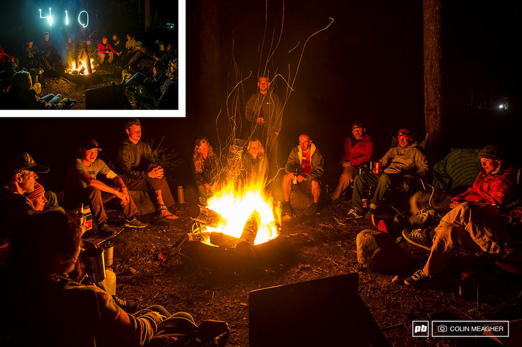410... campfires... good friends... they all go together so well.