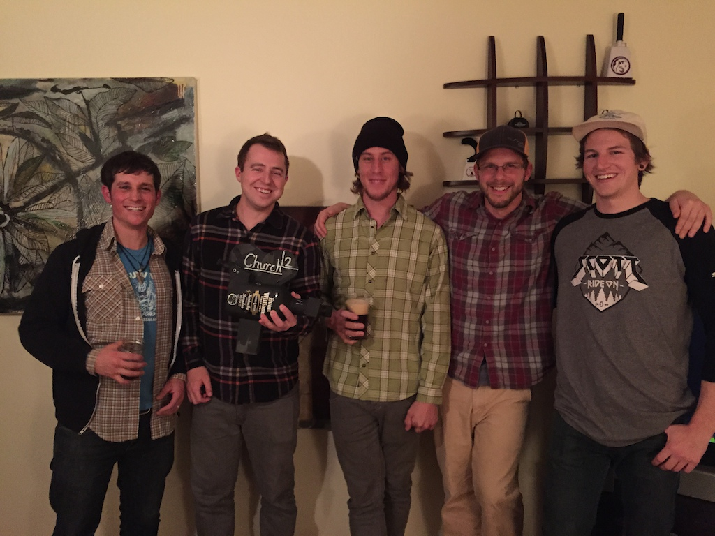 Church Crew with the official nofungun L gt R Scott Abla Zach Heaton Brandon Blakely Derek DiLuzio Evan Voss