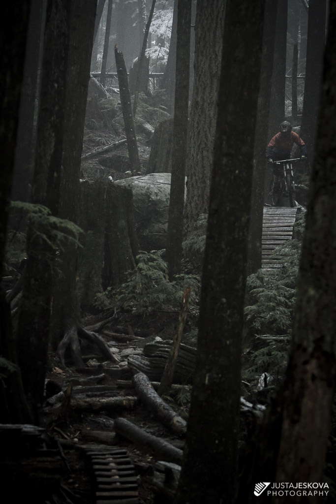 Wet, cold and dark ride on North Shore.