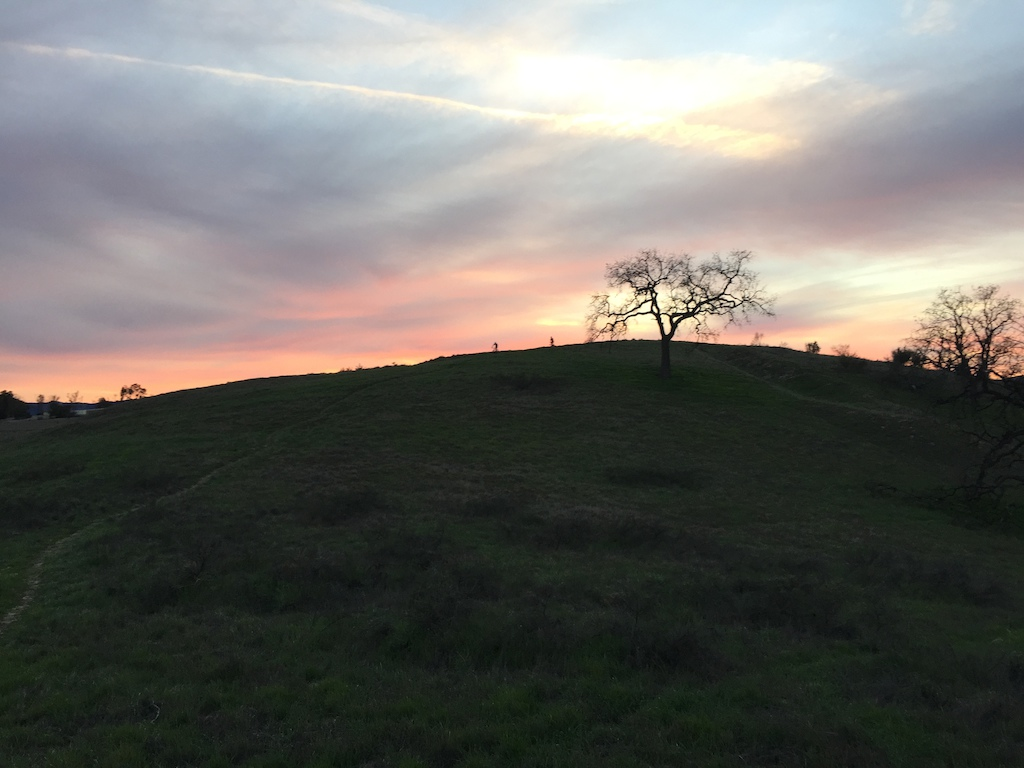 Riding Some Singletrack at sunset in Hidden HIlls California-The Sky was amazing. We are at the top about to Shred down the mountain. Flowy Singletrack for miles.  No Filter added!