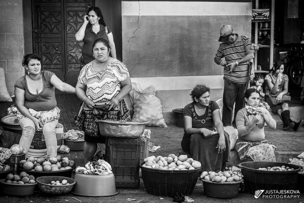 Local women selling produce at the local market.