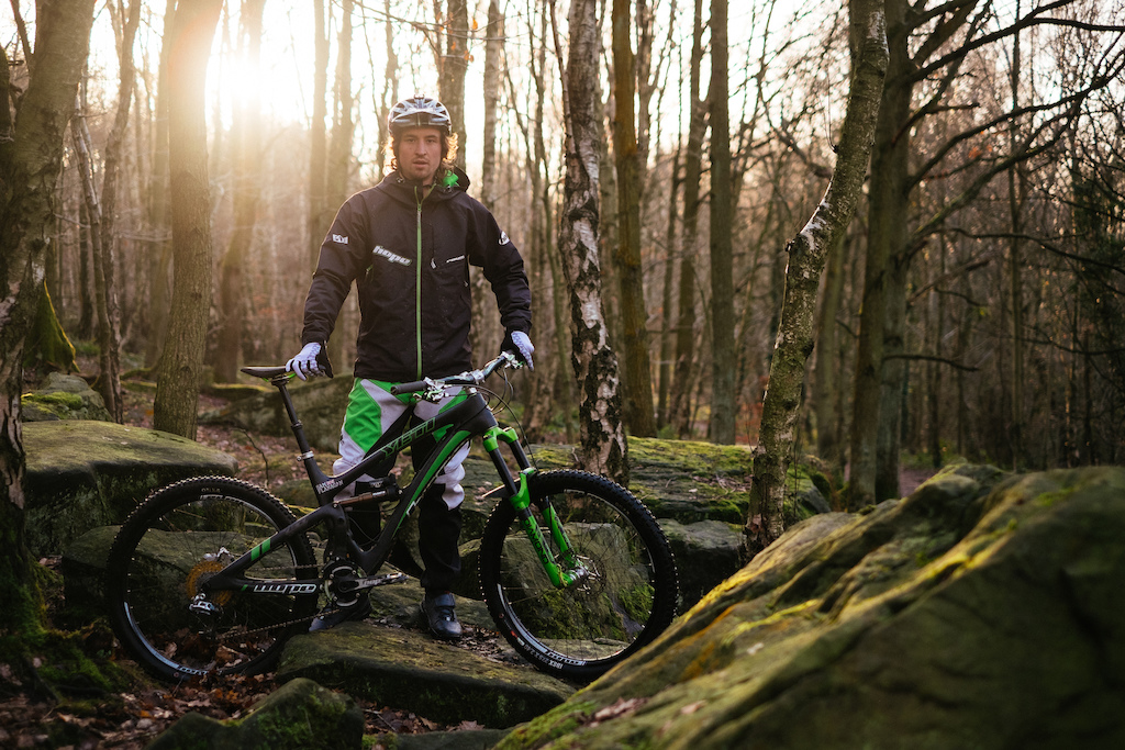 Sam Flanagan's first ride aboard his Hope'd up Yeti SB6c