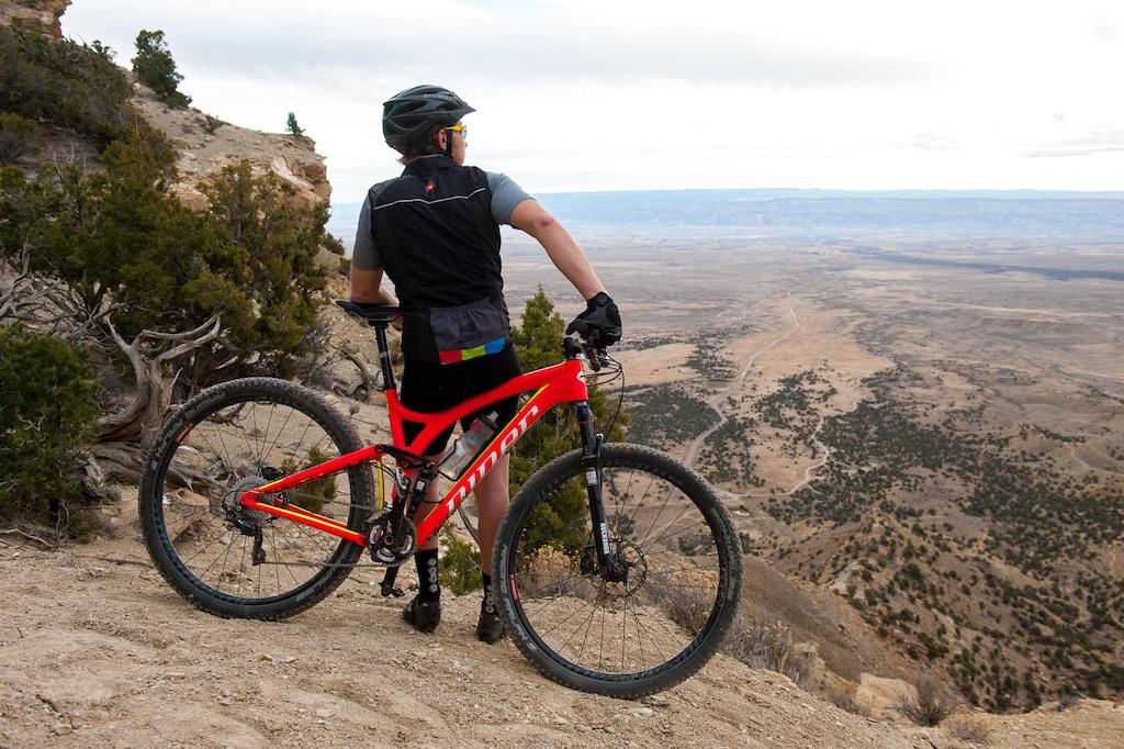 Mark Mueller rides the Sarlacc Trail near Fruita, Colorado.
