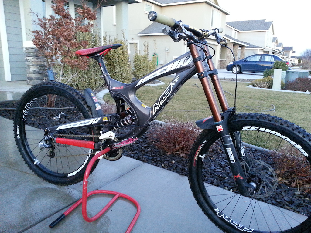 My baby with new Marzocchi 380 Ti forks and Moto Cr2 rear shock. By far the best suspension I have ridden.