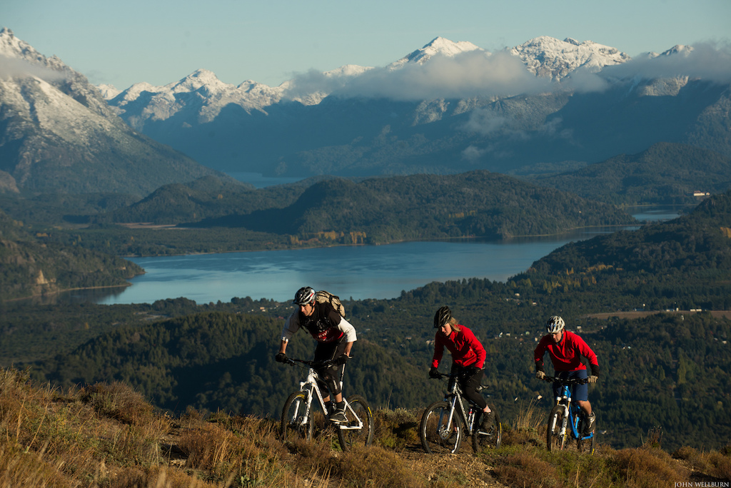 Our trip began in San Carlos De Bariloche in the Patagonia. The first ride of the day took us above the lake of Nahuel Huapi. We got up super early to catch first light.