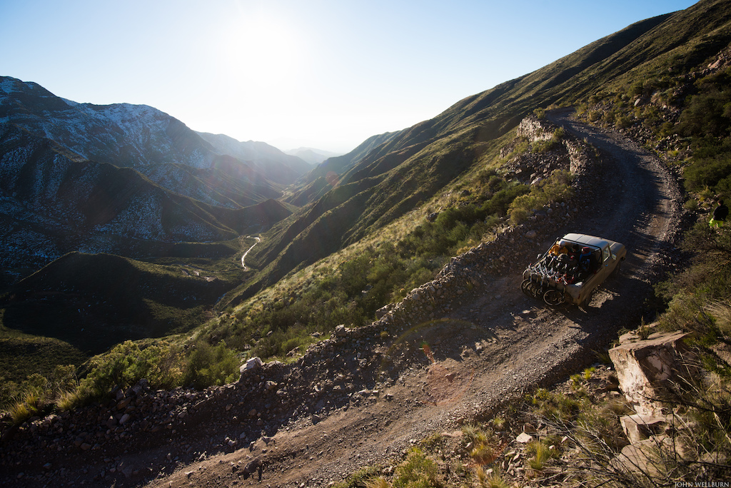 The Andes are so massive that pedalling from the flats of Mendoza to the trail head would mean a solid day of dirt road riding. We opted for the truck to get us up to the goods.