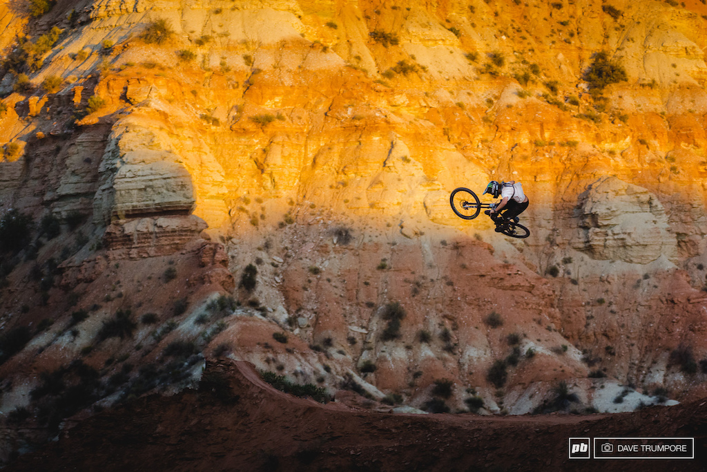 Each year I shoot Red Bull Rampage my mind is blown just a little bit more and this year it was Graham Agassiz that stole the show for me. As Aggy became more comfortable with his line the blasting began and continued long after the setting sun disappeared behind the ridge. He may have missed out on the finals but his riding through the week and his commitment to hitting the some of the biggest features ever built before anyone else really set him apart for me. Aggy doesn t need contest results to validate anything but none the less I hope to see him on the top step of many a podium very soon.