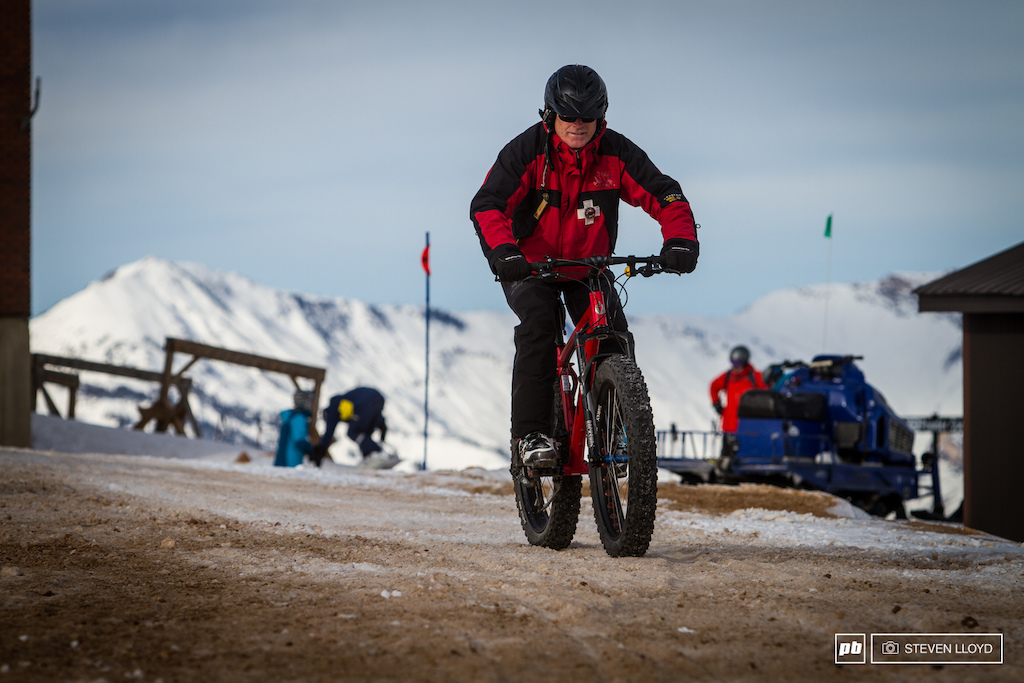 Even the ski patrol got into the fat bike thing.