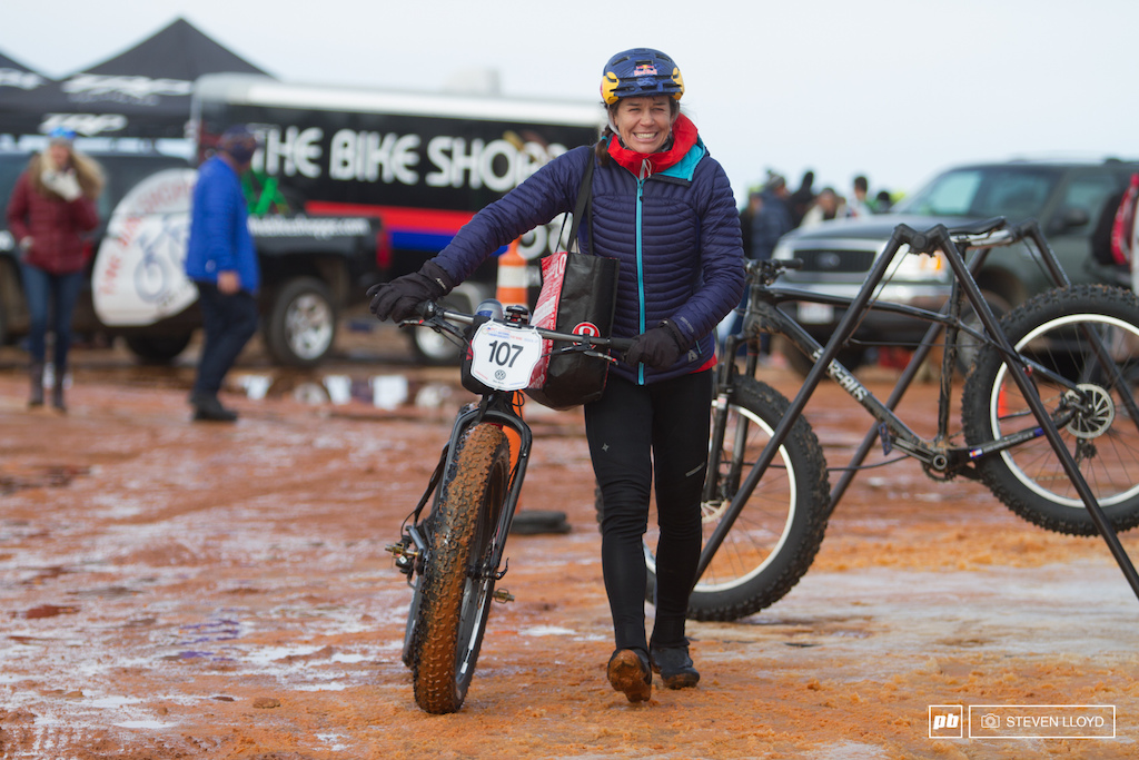 Rebecca Rusch stoked on a first in womens master 40-49 and a second in womens pro.