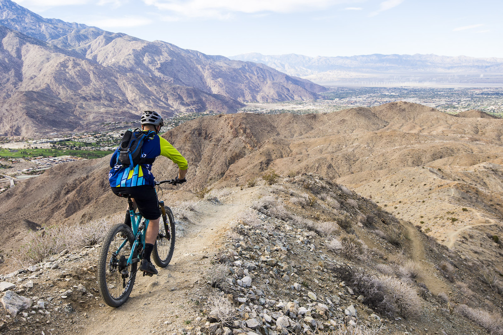 Riding the Palm Canyon Epic during day two of the Shimano Di2 XTR Press Launch.