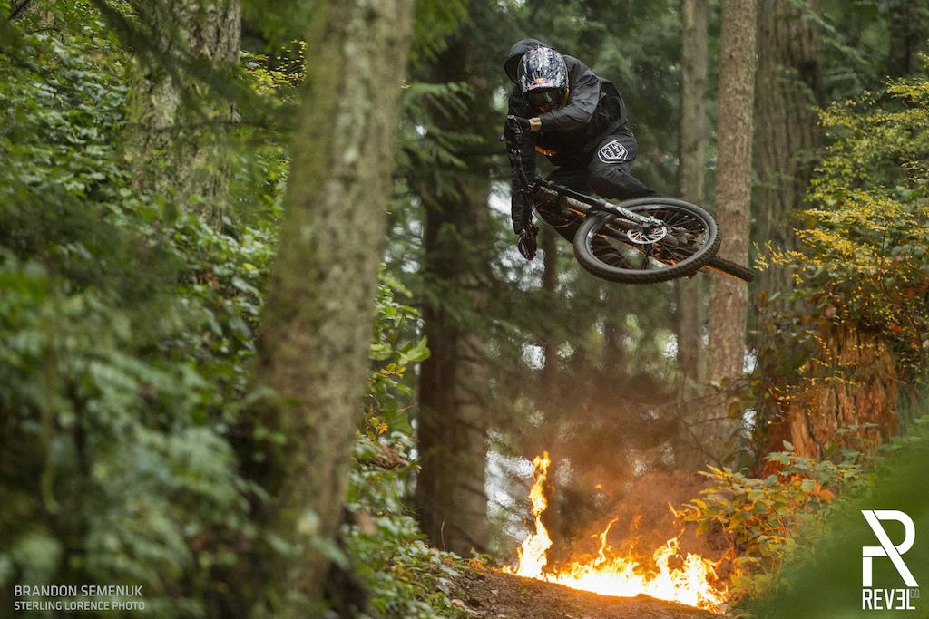 Brandon Semenuk filming for 'Revel in the Chaos' in Robert's Creek, BC