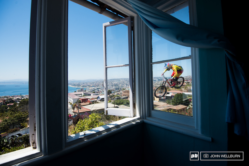 You may need to do a double take when you see Thomas Slavik flying by your bedroom window at Valpo.