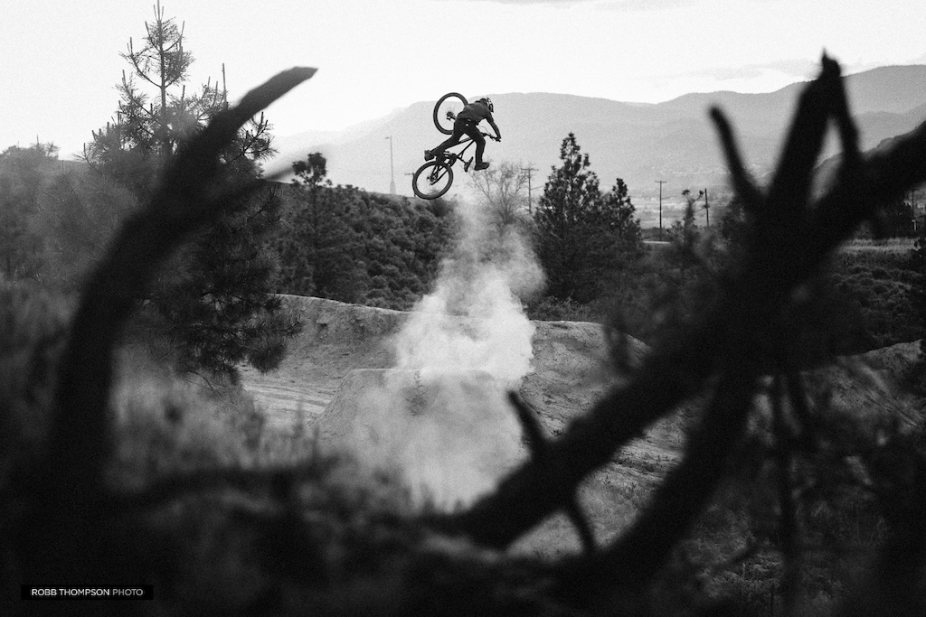 Aggy sending it Kamloops style with a plume of dust.