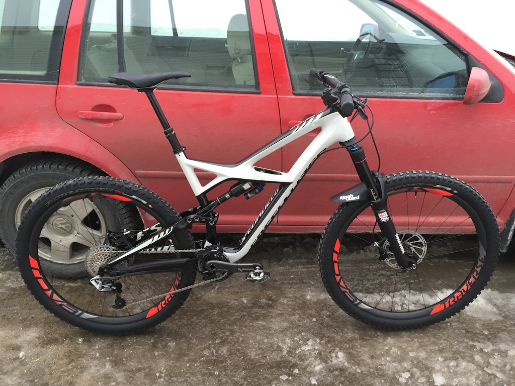 2015 Specialized Enduro 650B L   Rockshox Pike, Monarch Plus and Reverb Stealth   Roval Traverse SL Fattie   SRAM Guide RSC, XX1 Black, Holz stem and Stevie Smith Boobar and grips   MRP AMG   WTB Silverado Team   Specialized Tires   XT Trail Pedals   Marshguard   28lbs, 5oz (12.842kg)  #Builtforcharging