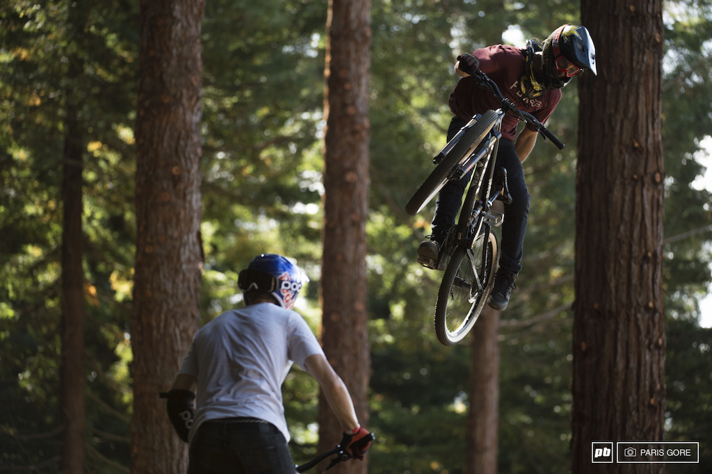 Cam McCaul and jumping over Martin Soderstrom.