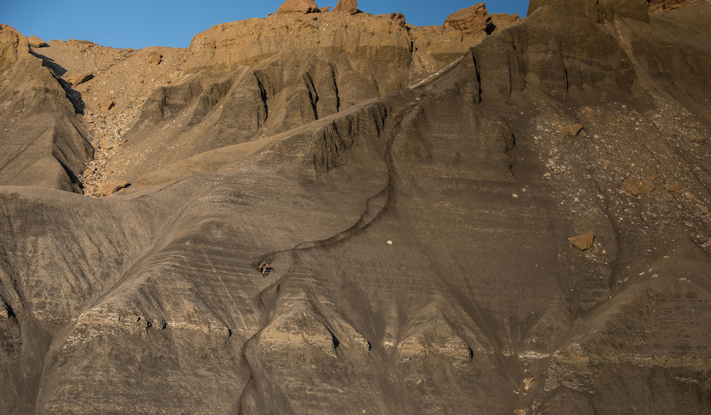 Riding big mountain lines in Southern Utah! Photo  by Jeff boyle