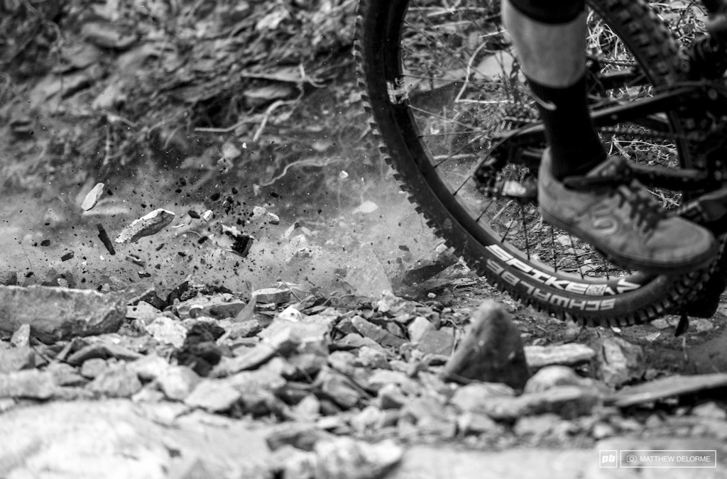 Loose chunky shale is not your tire s friend. There were plenty of flats today.
