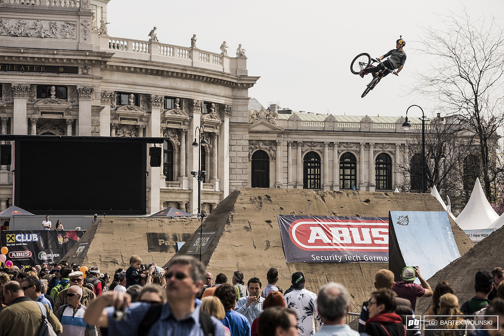 Szymon Godziek is well known for his FMX style but going full throttle looks like a bread amp butter lifestyle for him.