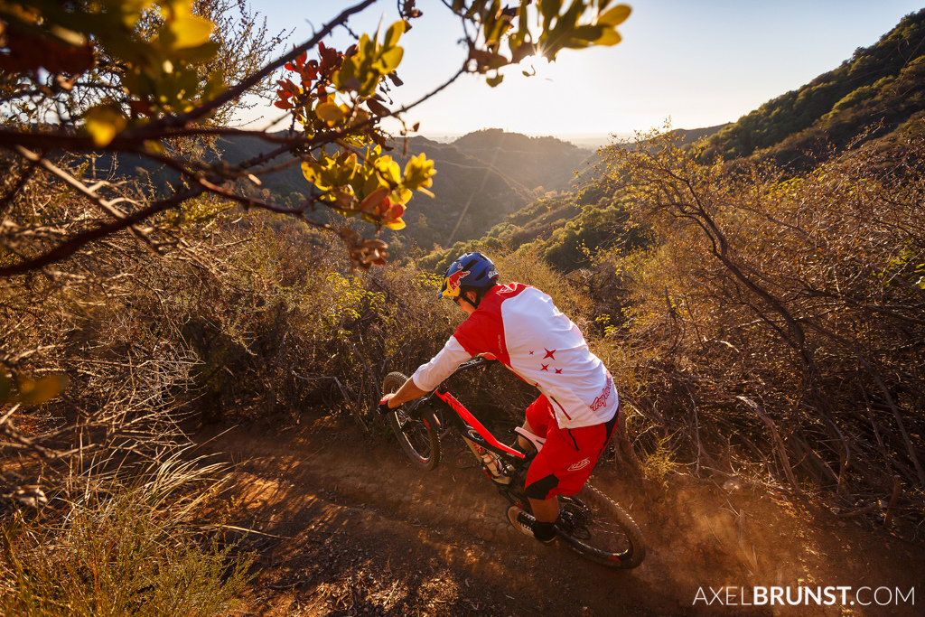 Curtis Keene riding at home in Santa Monica.