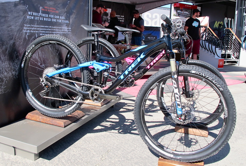 Trek is giving away these two custom Fuel EX Jr. bikes. Check out our main page story on how you could take one home.