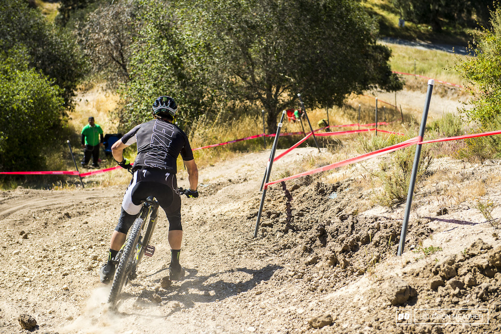 I kinda never thought I'd ever see this... Mitch Ropelato in lycra... and on an enduro track. Rope-a-dope en route to a second place on the day in the Enduro.