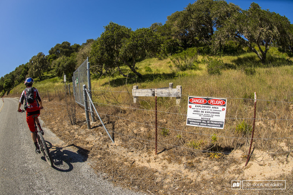 Yeah... don t go off trail on the transfers out at Sea Otter. Fort Ord used to be a US military training center. Lots of unexploded ordinance out there in them thar hills...