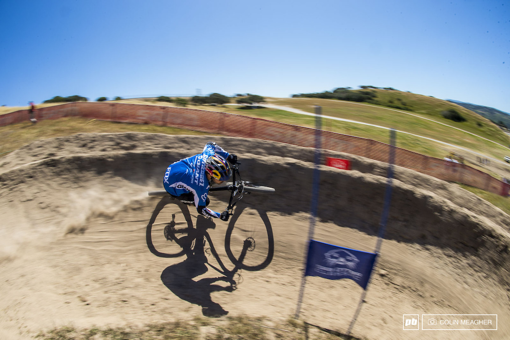 Marcelo Gutierrez ripping the DS berms. 8th on the day for the one time protege of Cedric Cracia.